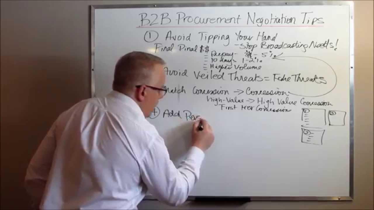 B2B Purchasing Negotiation Five Strategies to Reduce Vendor Prices