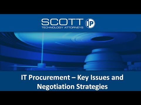 IT Procurement  Key Issues and Negotiation Strategies