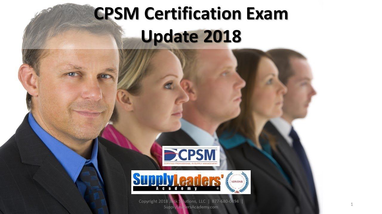 CPSM Certification Update For Procurement Career in Purchasing for your Supply Chain