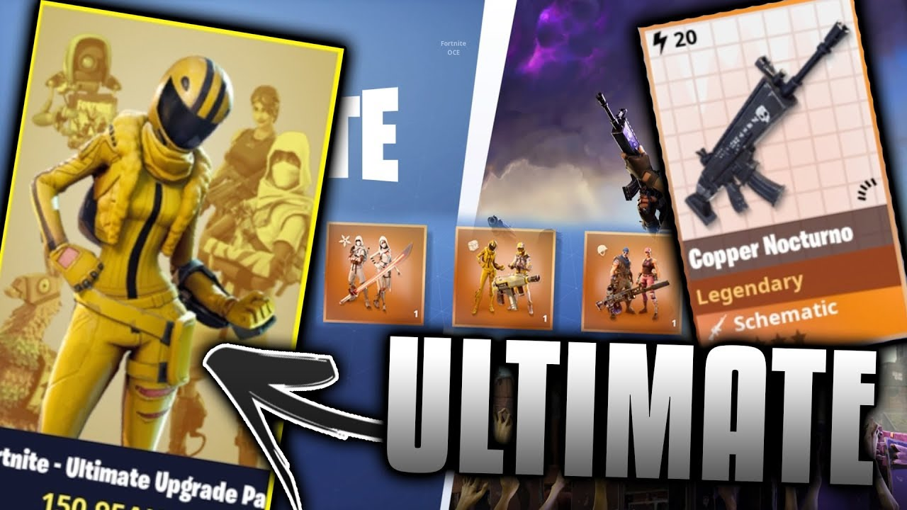 Purchasing NEW FORTNITE ULTIMATE PACK!!! (Limited Edition REWARDS) Fortnite Save The World PVE