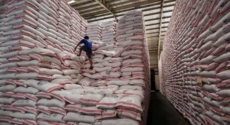 July rice inventory falls by a fifth year on year