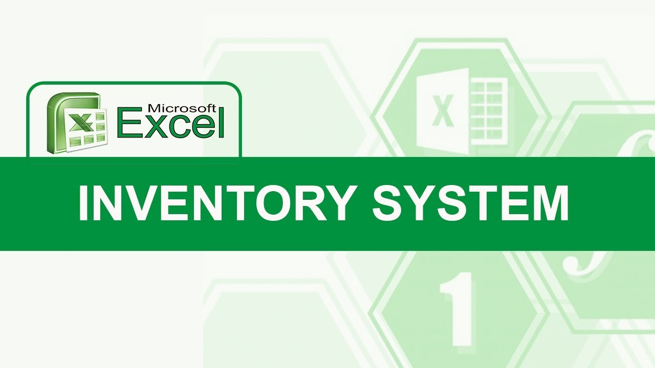 How to Create Inventory System Using Excel
